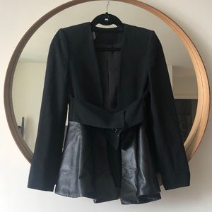 Zara Blazer with Faux Leather Peplum